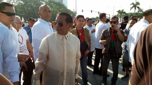 Former Makati Mayor and current Vice President and Presidential candidate Jejomar Binay.